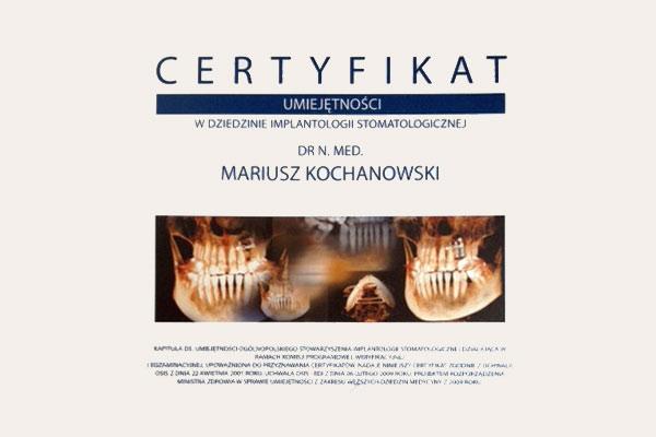 Certyfikaty - klinika Neo Dentica